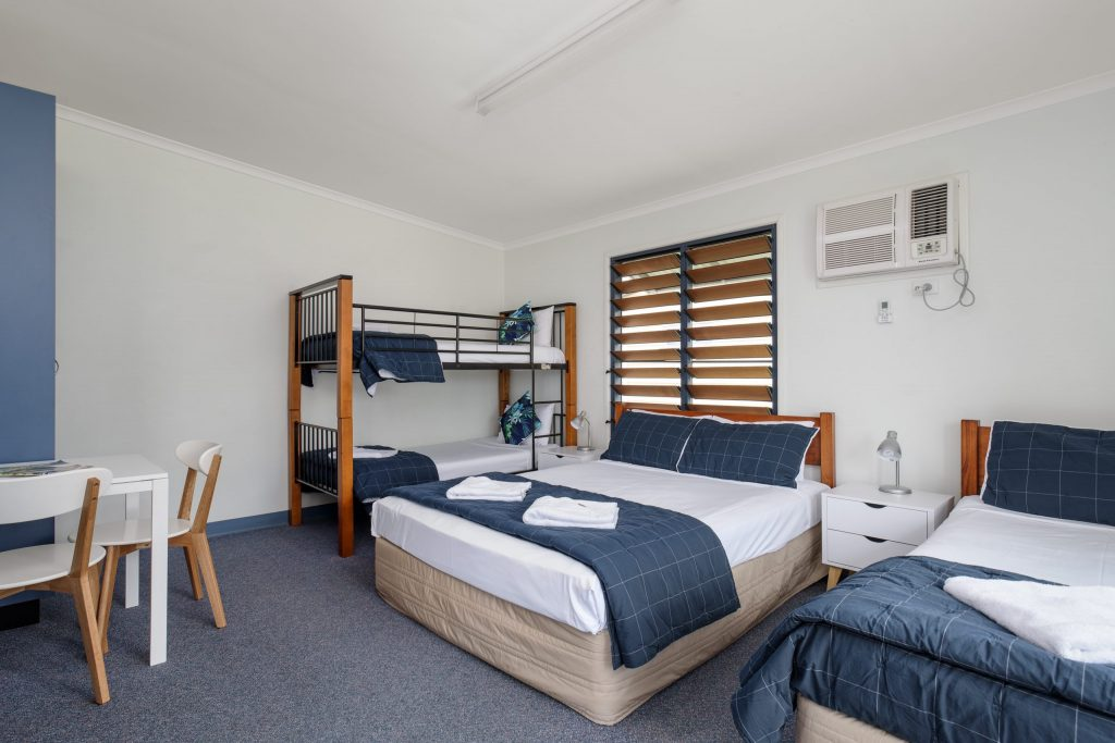 accommodation at Tin Can Bay bedroom